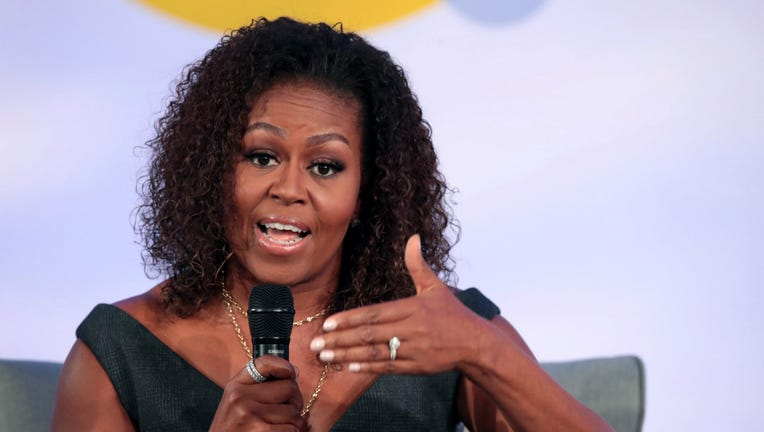 Former first lady Michelle Obama speaks to guests at the Obama Foundation Summit at Illinois Institute of Technology on October 29, 2019 in Chicago, Illinois. The Summit is an annual event hosted by the Obama Foundation. The 2019 theme is
