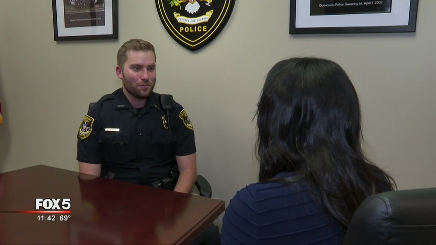 Dunwoody police officer saves 2 lives in a month