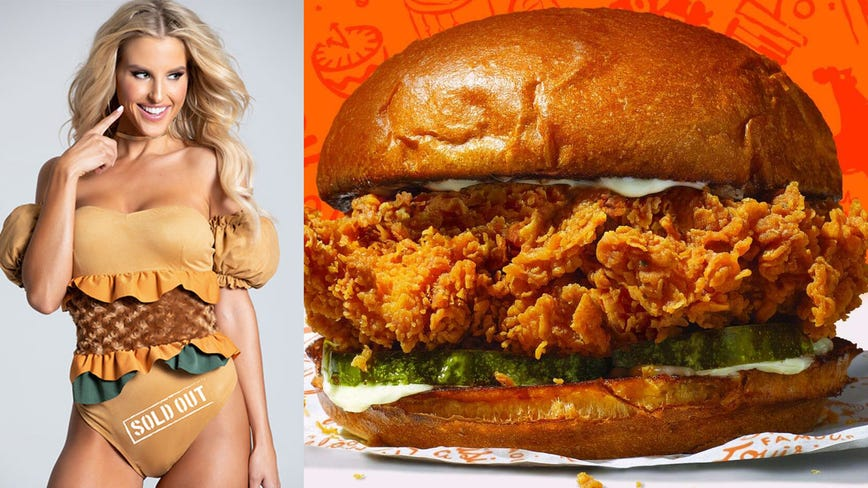 There's now a sexy Popeyes-inspired 'sold out chicken sandwich' costume for Halloween