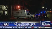 Man arrested in connection to suspicious death