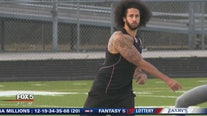 Fans turn up for Colin Kaepernick workout