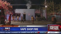 Vape shop fire in Atlanta