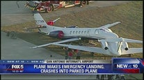 Plane crashes into another plane on ground