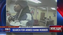 Search for armed bank robber