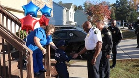 Clayton County boy battling brain cancer made honorary police officer