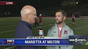 Game of the Week - Milton head coach