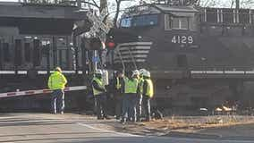 Truck, train collide in Clayton County