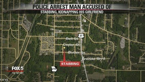Man charged with kidnapping, stabbing girlfriend