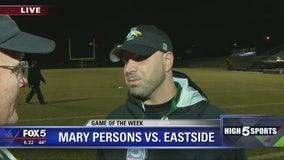 Game of the Week - Eastside head coach