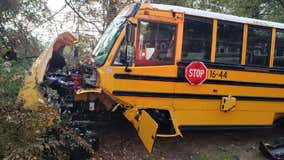 Police: SUV, Marietta school bus involved in a head-on crash