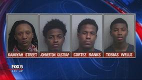 4 in custody, 1 on the run for southwest Atlanta ambush murder
