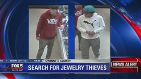 Police search for 2 men who ran off with gold chains