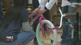 Credit union assembled bikes for military children