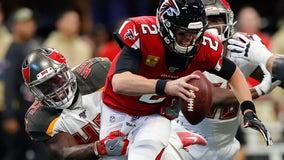 Big guy, big catch: Vea TD leads Bucs past Falcons 35-22