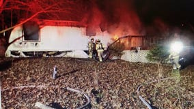 Hall County vacant mobile home fire under investigation