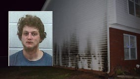 Investigators: Georgia man arrested after setting fire to his own home