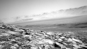 NASA's Mars Curiosity rover captures the lonely landscape of the red planet in eerie new photos