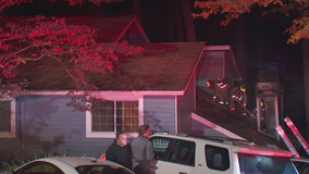 Crews battle chimney fire at Atlanta apartment complex