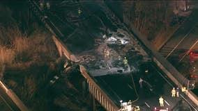 3 injured in fiery crash on I-95 in Bensalem