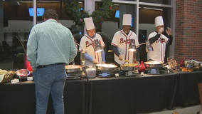 Braves host Thanksgiving dinner for first responders