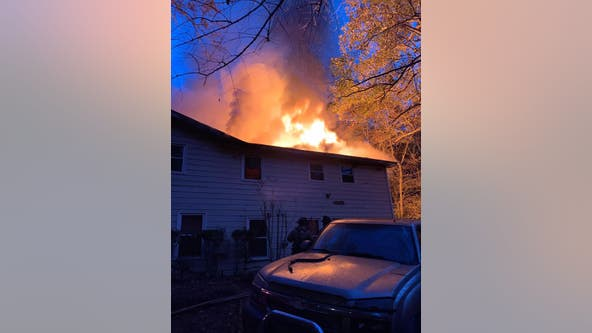 Crews save DeKalb County home after early morning fire