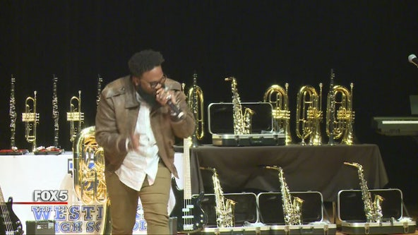 Blanco Brown performs at alma mater in Fulton County