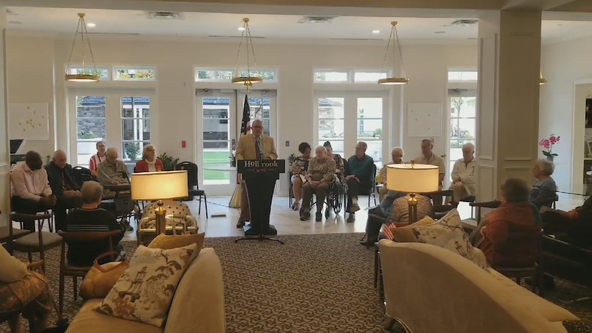 Senior living facility in DeKalb County honors veterans