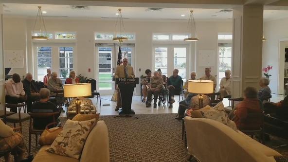 Senior living facility in DeKalb County honors veterans