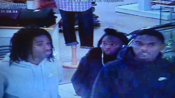 'Grab-and-go' burglars strike Belk stores in Conyers, Gwinnett and Cobb counties