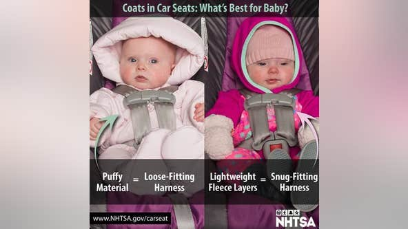 Police warn parents of dangers of winter coats and child car seats