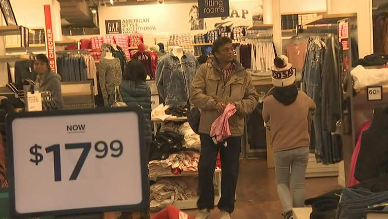 Black Friday shoppers scoop up deals at the San Francisco Premium Outlets in Livermore. Nov. 29, 2019