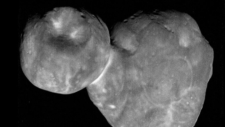 The most detailed image of Ultima Thule, now known as Arrokoth.