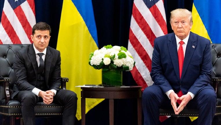 President Donald Trump and Ukraine President Volodymyr Zalensky