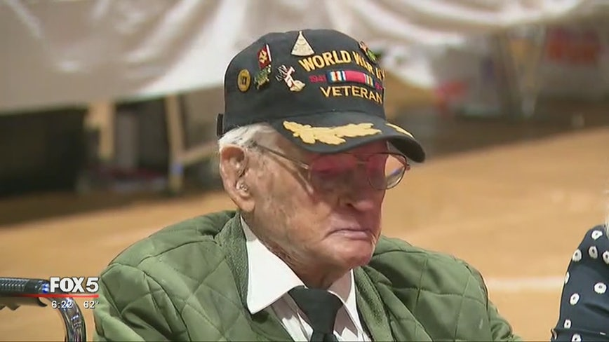 100-year-old WWII vet, other vets honored at Forsyth County school