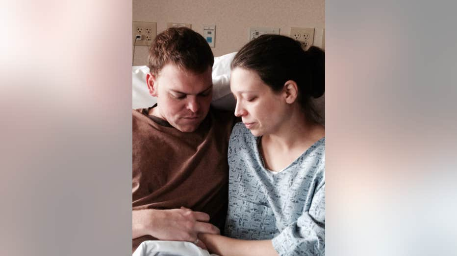 Couple grieves for babies in hospital
