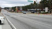 Gas main break shuts down busy DeKalb County roads