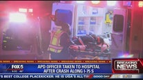 Atlanta police officer injured in interstate crash