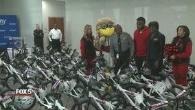 Rockdale County sheriff gets bike, helmet donation in time for Christmas