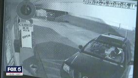 Caught on camera: Man rams stolen car into liquor store to steal popular cognac, police say