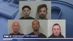 6 suspects arrested in connection with storage unit theft operation