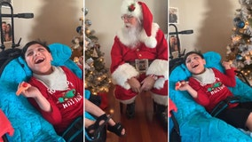 Florida boy with special needs has magical surprise visit with Santa