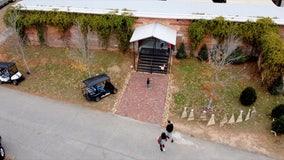 New Senoia farmers market in Walking Dead warehouse