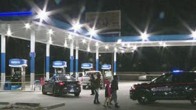Man found shot multiple times inside vehicle at southwest Atlanta gas station