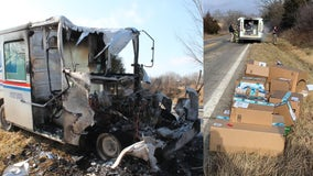Mailman 'saves Christmas' by pulling packages out of burning truck