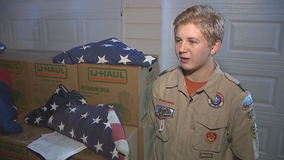 Georgia Boy Scout collecting torn, tattered flags surpasses goal