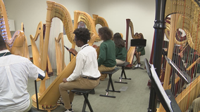 Atlanta students learning to play the harp through unique program