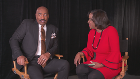 Miss Universe host Steve Harvey speaks to FOX 5 Atlanta