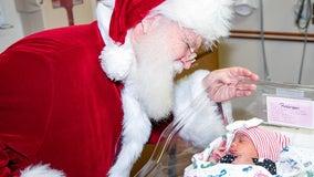 Georgia hospital's littlest patients get visit from Santa