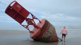 U.S. Coast Guard plans to remove massive buoy that washed ashore on New Smyrna Beach