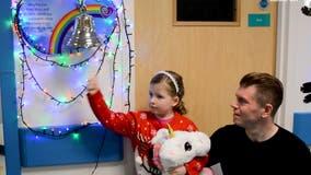 Girl, 6, celebrates cancer-free Christmas after 2-year leukemia battle